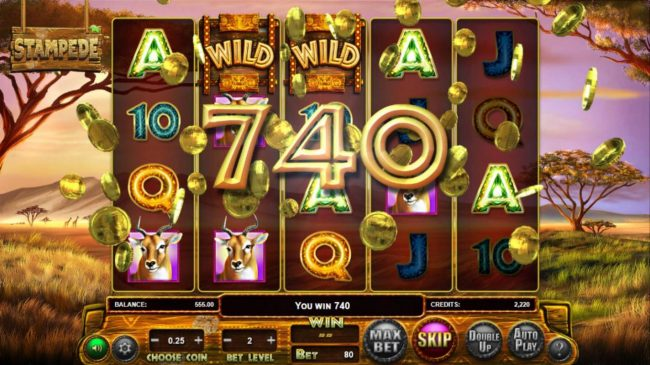 770Red featuring the Video Slots Stampede with a maximum payout of $769,500