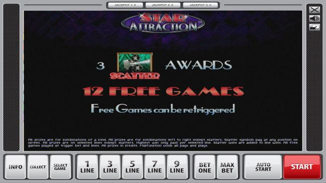 Quasar featuring the Video Slots Star Attraction with a maximum payout of $67,500