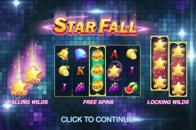 Play slots at Montecryptos: Montecryptos featuring the Video Slots Star Fall with a maximum payout of $50,000