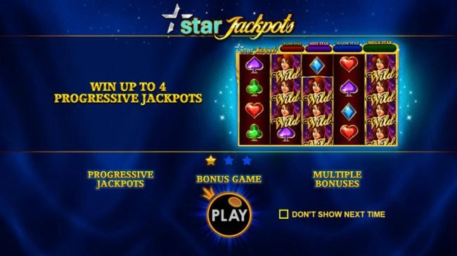 Play slots at Crystal Casino Club: Crystal Casino Club featuring the Video Slots Star Jackpots with a maximum payout of $100,000
