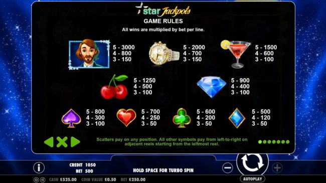 Spiral featuring the Video Slots Star Jackpots with a maximum payout of $100,000