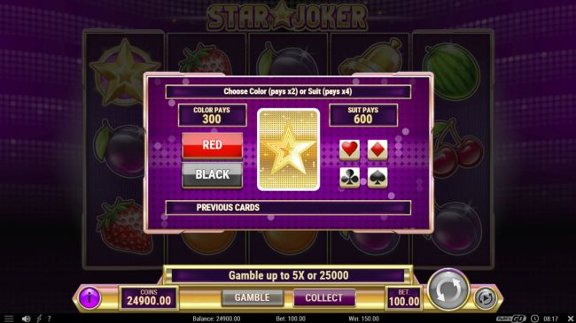 Casino-X featuring the Video Slots Star Joker with a maximum payout of $500,000