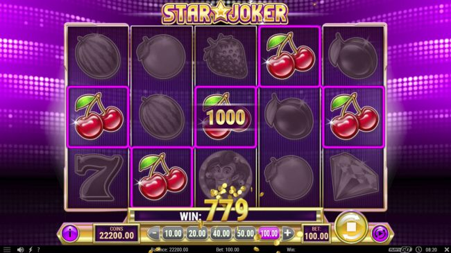 TS featuring the Video Slots Star Joker with a maximum payout of $500,000