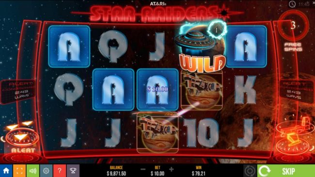 Star Raiders :: Free Spins Game Board - Features 243 Ways to Win and Locked Wilds