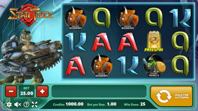 Play slots at Venetian: Venetian featuring the Video Slots Star Trex with a maximum payout of $300
