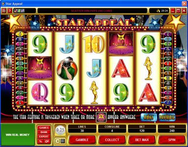 Spinrider featuring the Video Slots Star Appeal with a maximum payout of $12,500