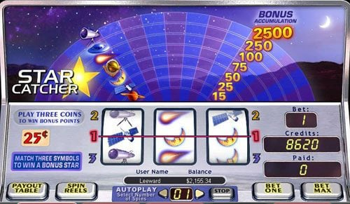 Royal House featuring the video-Slots Star Catcher with a maximum payout of 2,5000x