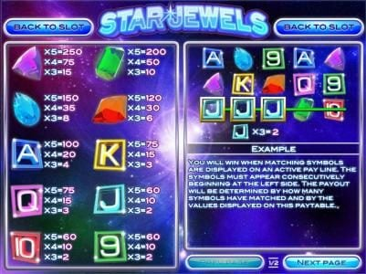 Play slots at Break Away: Break Away featuring the Video Slots Star Jewels with a maximum payout of $50,000
