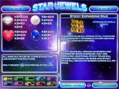 Vegas Regal featuring the Video Slots Star Jewels with a maximum payout of $50,000