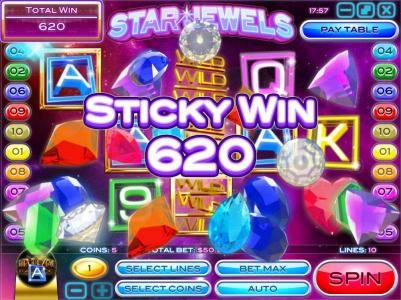 Casino Royal Club featuring the Video Slots Star Jewels with a maximum payout of $50,000