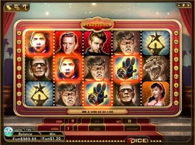 3Dice featuring the Video Slots Star Struck with a maximum payout of $3,000