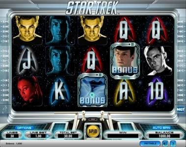 Play slots at Moon Games: Moon Games featuring the Video Slots Star Trek with a maximum payout of $1,000