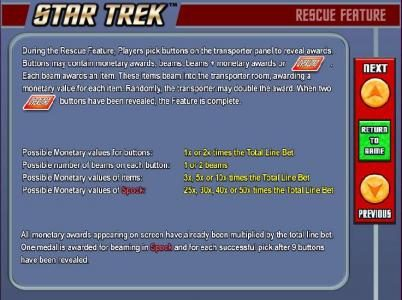 Star Trek: Piece of the Action :: RESCUE feature game rules.