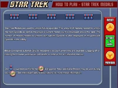 Videoslots featuring the Video Slots Star Trek: Piece of the Action with a maximum payout of $4,500