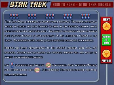 Mega Casino featuring the Video Slots Star Trek: Red Alert with a maximum payout of $5,000