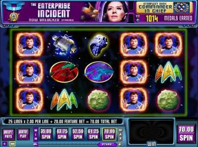 Play slots at Winstar: Winstar featuring the Video Slots Star Trek: Trek through Time with a maximum payout of $40,000