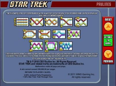 Shadowbet featuring the Video Slots Star Trek: Trek through Time with a maximum payout of $40,000
