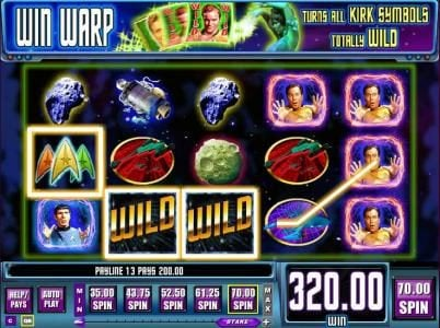 Secret Slots featuring the Video Slots Star Trek: Trek through Time with a maximum payout of $40,000
