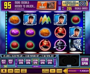 Play slots at Wicked Jackpots: Wicked Jackpots featuring the Video Slots Star Trek Episode 3 : The Trouble With Tribbles with a maximum payout of $250,000