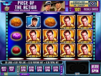 Queen Vegas featuring the Video Slots Star Trek Episode 4 : Trap A Tribble with a maximum payout of $22,500