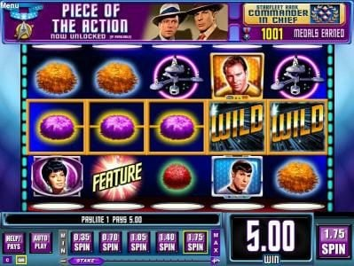 Karl Casino featuring the Video Slots Star Trek Episode 4 : Trap A Tribble with a maximum payout of $22,500