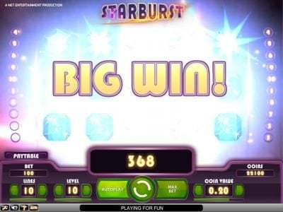 Touch Lucky featuring the Video Slots Starburst with a maximum payout of $2,500