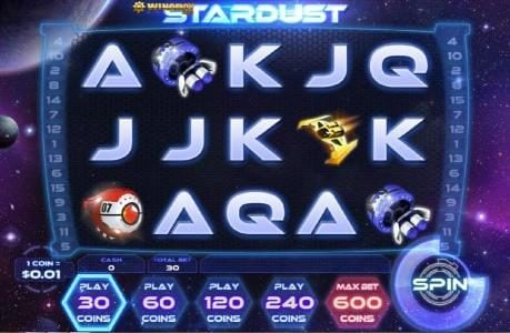 Slotland featuring the Video Slots Stardust with a maximum payout of $200