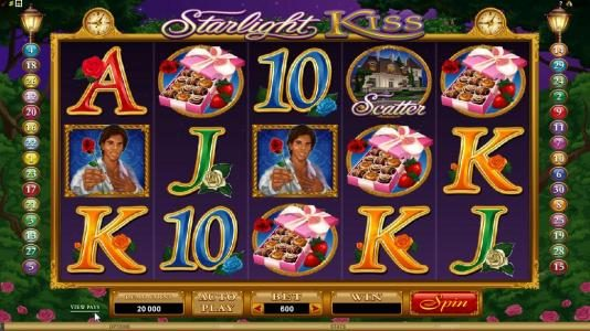 Play slots at Leo Vegas: Leo Vegas featuring the Video Slots Starlight Kiss with a maximum payout of $10,000