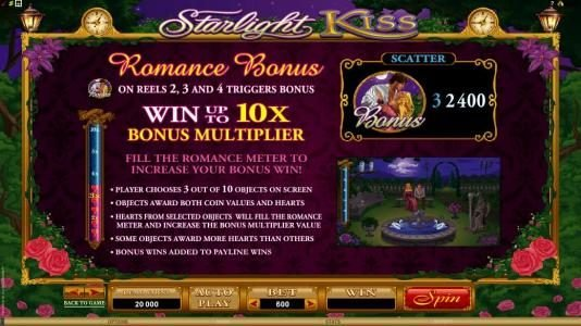 Play slots at Grand Mondial: Grand Mondial featuring the Video Slots Starlight Kiss with a maximum payout of $10,000