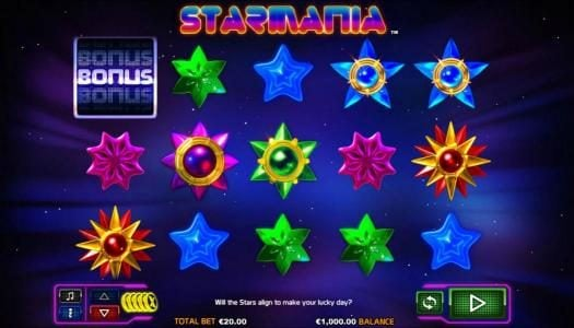 Enzo Casino featuring the Video Slots Starmania with a maximum payout of $9,200
