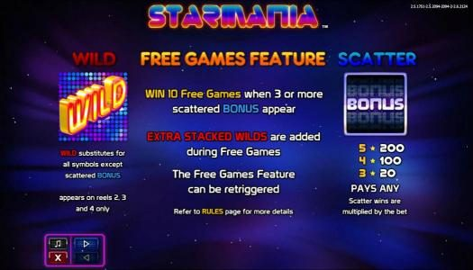 Roxy Palace featuring the Video Slots Starmania with a maximum payout of $9,200