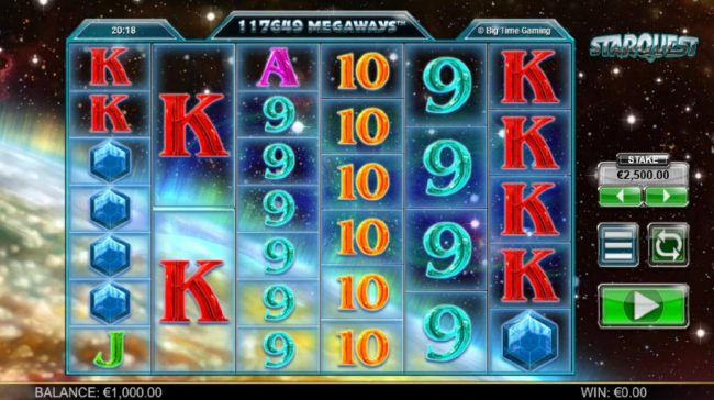 Trada featuring the Video Slots Starquest with a maximum payout of $37,500