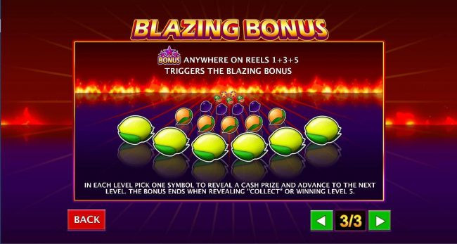King Solomons featuring the Video Slots Stars Ablaze with a maximum payout of $3,750,000