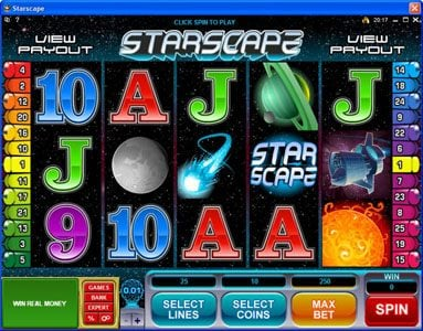 Play slots at Casino France Net: Casino France Net featuring the Video Slots Starscape with a maximum payout of $70,000