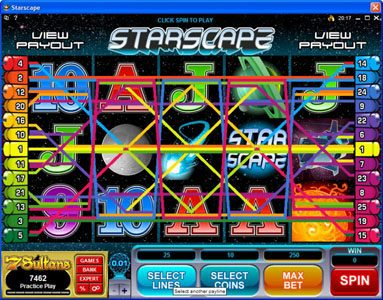 Play slots at Yukon Gold: Yukon Gold featuring the Video Slots Starscape with a maximum payout of $70,000