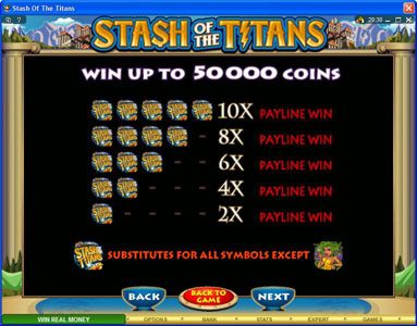 Casdep featuring the Video Slots Stash of the Titans with a maximum payout of $200,000