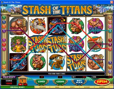 Rose Slots featuring the Video Slots Stash of the Titans with a maximum payout of $200,000