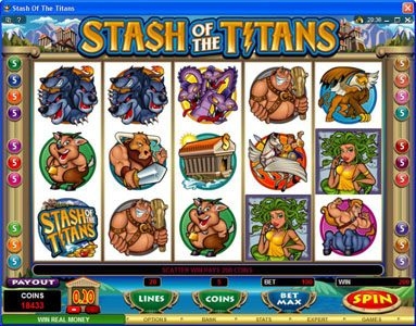 Grand Hotel featuring the Video Slots Stash of the Titans with a maximum payout of $200,000