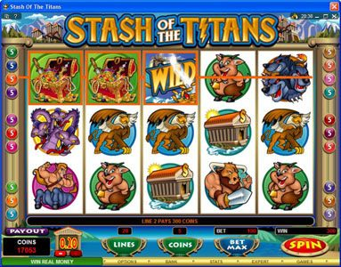 Villento featuring the Video Slots Stash of the Titans with a maximum payout of $200,000