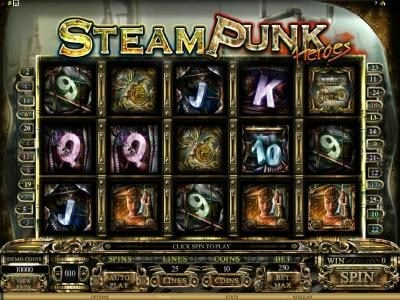 Play slots at Jackpot Knights: Jackpot Knights featuring the Video Slots Steam Punk Heroes with a maximum payout of $4,000
