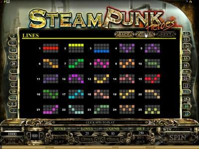 Buran featuring the Video Slots Steam Punk Heroes with a maximum payout of $4,000