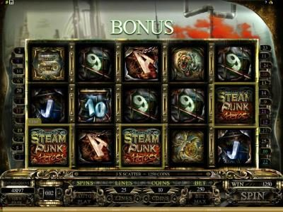 Players Palace featuring the Video Slots Steam Punk Heroes with a maximum payout of $4,000