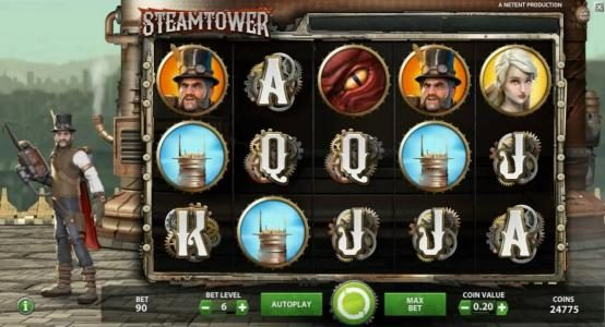 Sun Play featuring the Video Slots Steam Tower with a maximum payout of $0