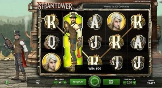 Wintingo featuring the Video Slots Steam Tower with a maximum payout of $0