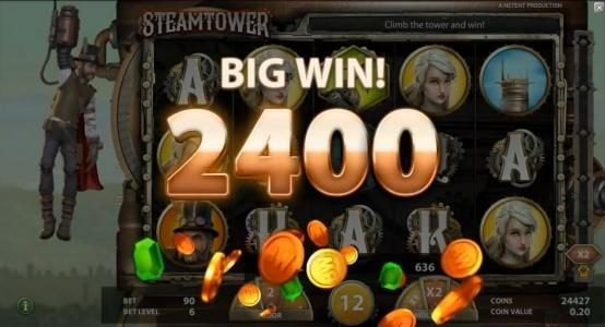 Play Million featuring the Video Slots Steam Tower with a maximum payout of $0