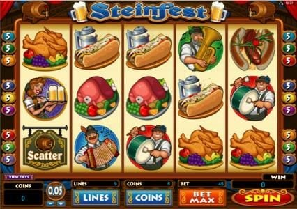 Play slots at Zodiac: Zodiac featuring the Video Slots Steinfest with a maximum payout of $5,000