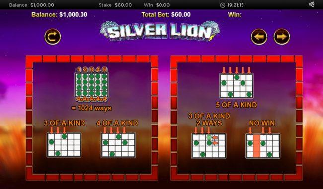 Stellar Jackpot with Silver Lion :: 1024 Ways to Win