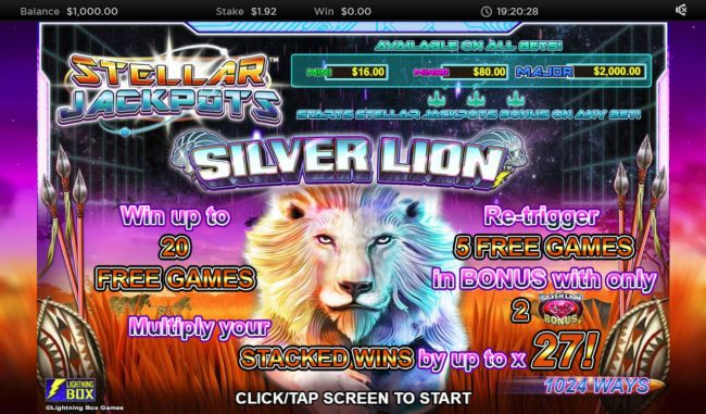 Stellar Jackpot with Silver Lion :: Introduction