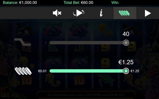 Lightbet featuring the Video Slots Stellar Jackpots with Dolphin Gold with a maximum payout of Jackpot