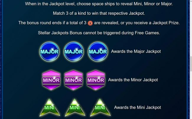 Stellar Jackpots with Dolphin Gold :: Stellar Jackpot Rules - Continued